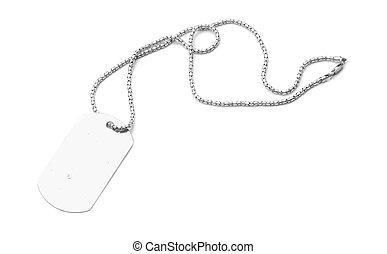 dog tag - blank dog tag isolated on white