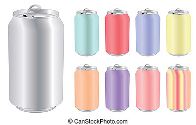 blank drink can in differents color