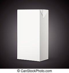 blank drink carton package