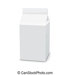 blank drink carton package isolated over white background