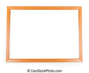 Blank dry erase board