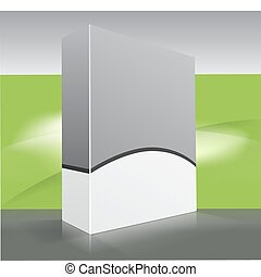 Blank dvd box on background