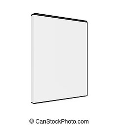 Blank DVD Case Isolated