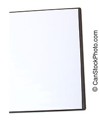 Blank DVD case on white