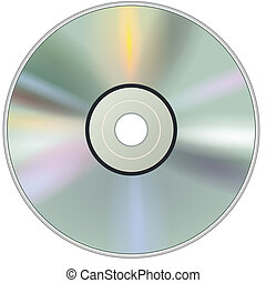 DVD CD disc - Blank DVD CD disc, vector.