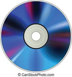 Blank DVD CD disc, vector.