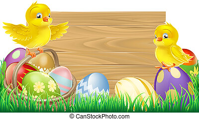 Blank Easter Sign
