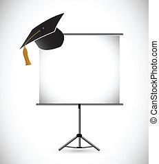 blank education graduation presentation board.