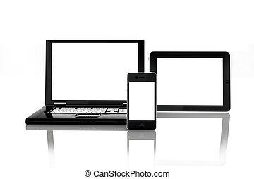 Blank electronic screens