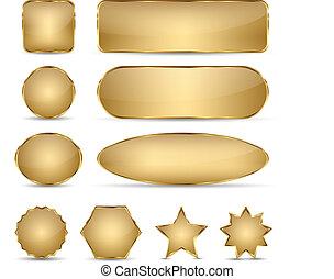Blank Elegant Golden Buttons