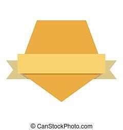 blank emblem label