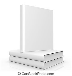 Blank Empty 3d Book Cover Isolated on White