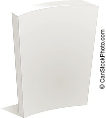 Blank Empty Book Cover Isolated on White vector eps 10