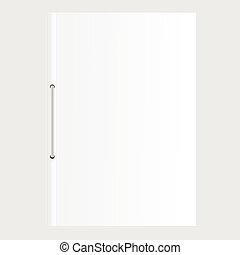 Blank empty magazine or Document file vector, book or booklet, brochure, catalog template on a gray background.