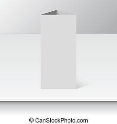 Blank empty magazine template