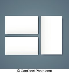 Blank Empty Sheet Business Mock Up White Page Card Set Paper...
