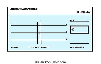 Blank English Che CK - Blank English Cheque illustration ...