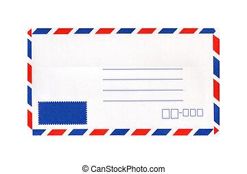 Blank envelope isolated on white background