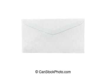 Blank envelope on white background