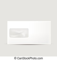 blank envelope with window