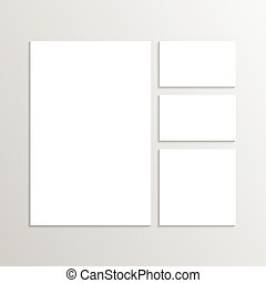 Blank Envelopes Business card and folder. Corporate Identity. Isolate on white background. Layout for your design
