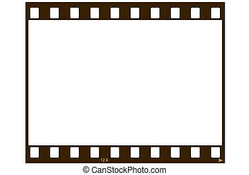 Blank film strip - A blank 35 MM film strip for use as a...
