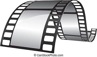 Blank film strip