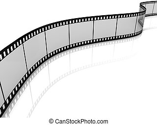 Blank film strip isolated on white background