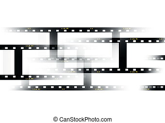 blank film strip isolated on white