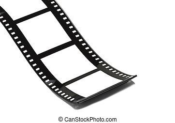 Blank film strip on white