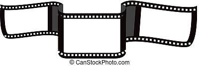 Blank film strip ribbon