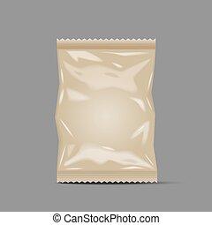 Blank Foil Food Snack Sachet Bag Packaging, paper