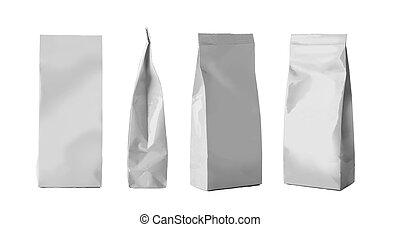 Blank Foil Food Snack Sachet Bags Packaging For Coffee, Salt...