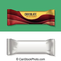 Blank Foil Food Snack - Vector visual of white or clear...