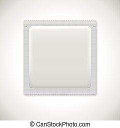 Blank foil packaging. Medicine drugs or condoms