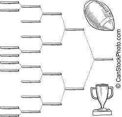 Blank football playoff bracket - Blank professional football...