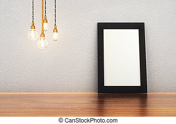 Blank frame and bulbs