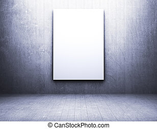 Blank frame in a vintage empty room