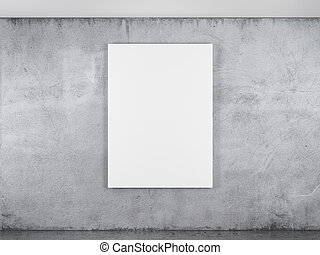 blank frame on a concrete wall