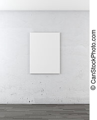 blank frame on a white wall