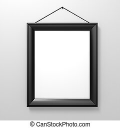 blank frame on white wall