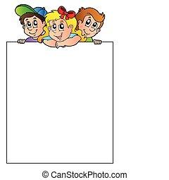 Blank frame with lurking children