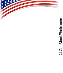 Blank frame with USA flag.