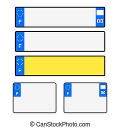 Blank French Licence Plates - Blank French vehicle licence...