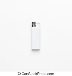 blank gas sigarette lighter on white background. not isolated.