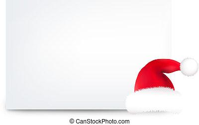 Blank Gift Tag And Santa Hat - Santa Hat And Blank Gift Tag...