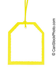 Blank Gift Tag in Yellow and White.