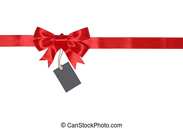 Blank gift tag with bow for gifts