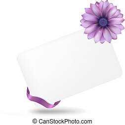 Blank Gift Tag With Gerber, Isolated On White Background, ...