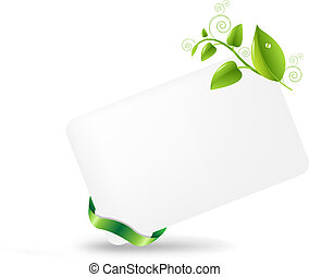 Blank Gift Tag With Leaves, Isolated On White Background, ...